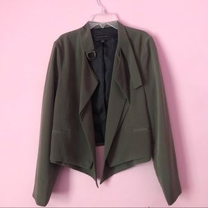 Metaphor cropped jacket